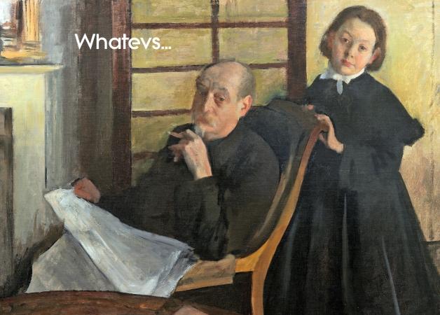 FArt 012- Henri Degas and his Niece Lucie Degas